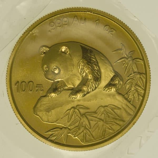 china - China Panda 1 Unze 1999