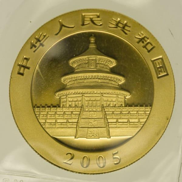 china - China Panda 1 Unze 2005