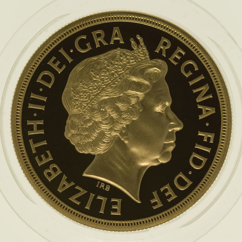 grossbritannien - Großbritannien Elisabeth II. Proof Sovereign Five-Coin Set 2011