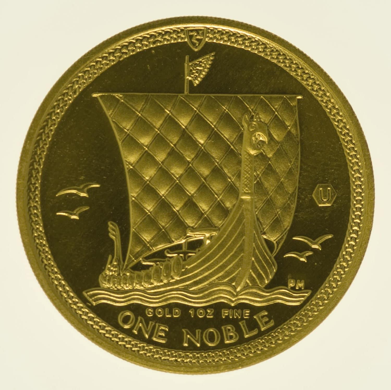 isle-of-man - Isle of Man Elisabeth II. 1 OZ 2009 One Noble