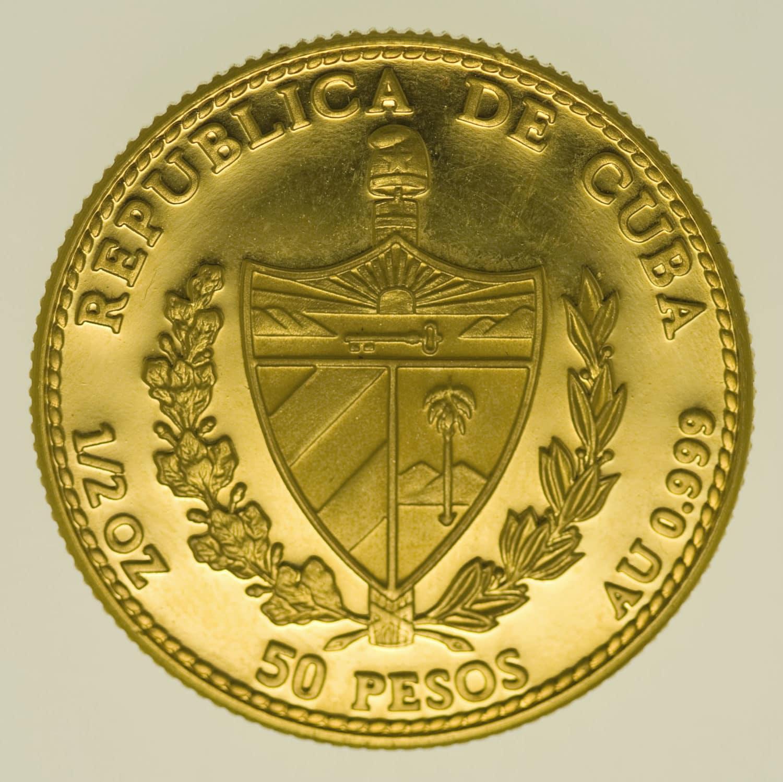 kuba - Kuba 50 Pesos 1990 1/2 OZ