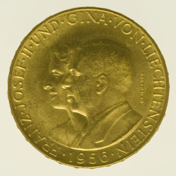 liechtenstein - Liechtenstein Franz Joseph II. 50 Franken 1956