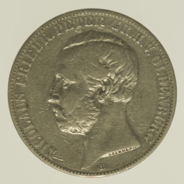 altdeutschland-deutsche-silbermuenzen - Oldenburg Nicolaus Friedrich Peter Vereinstaler 1858 B
