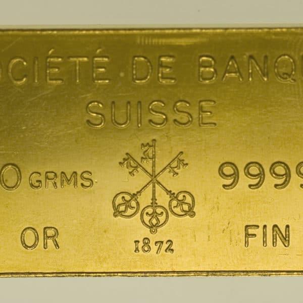 goldbarren - Goldbarren 100 GrammJohnson Matthey für Société de Banque Suisse