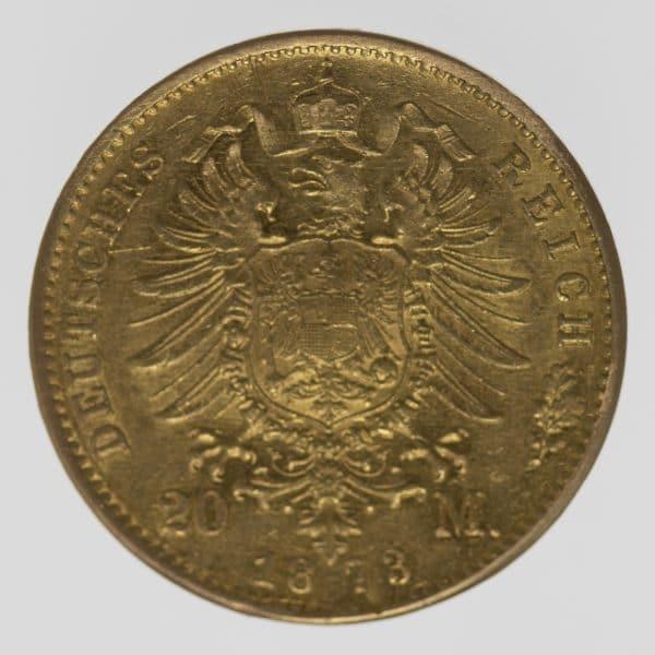 deutsches-kaiserreich-ab-1871 - Baden Friedrich I. 20 Mark 1873