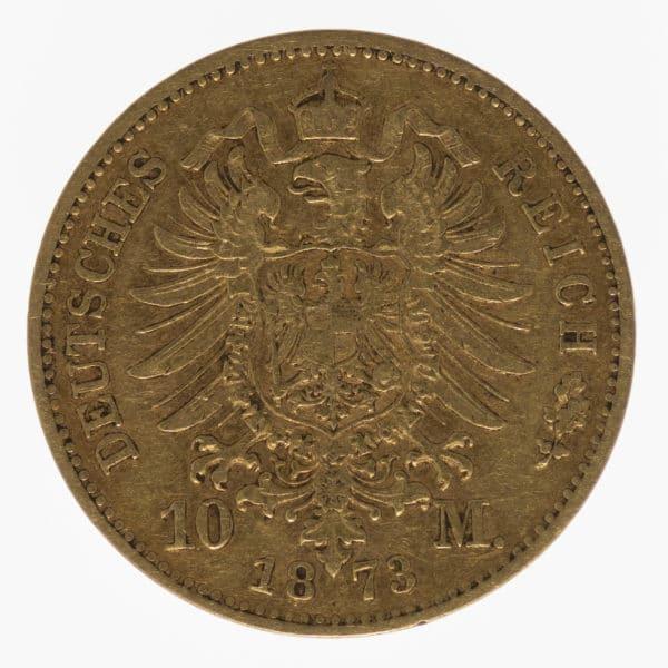 deutsches-kaiserreich-ab-1871 - Bayern Ludwig II. 10 Mark 1873
