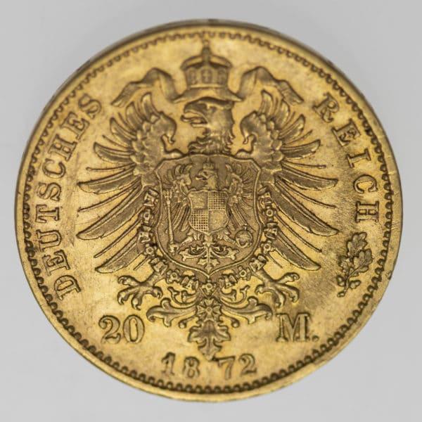deutsches-kaiserreich-ab-1871 - Bayern Ludwig II. 20 Mark 1872