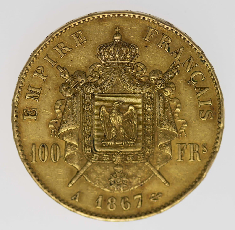 frankreich - Frankreich Napoleon III. 100 Francs 1867 A