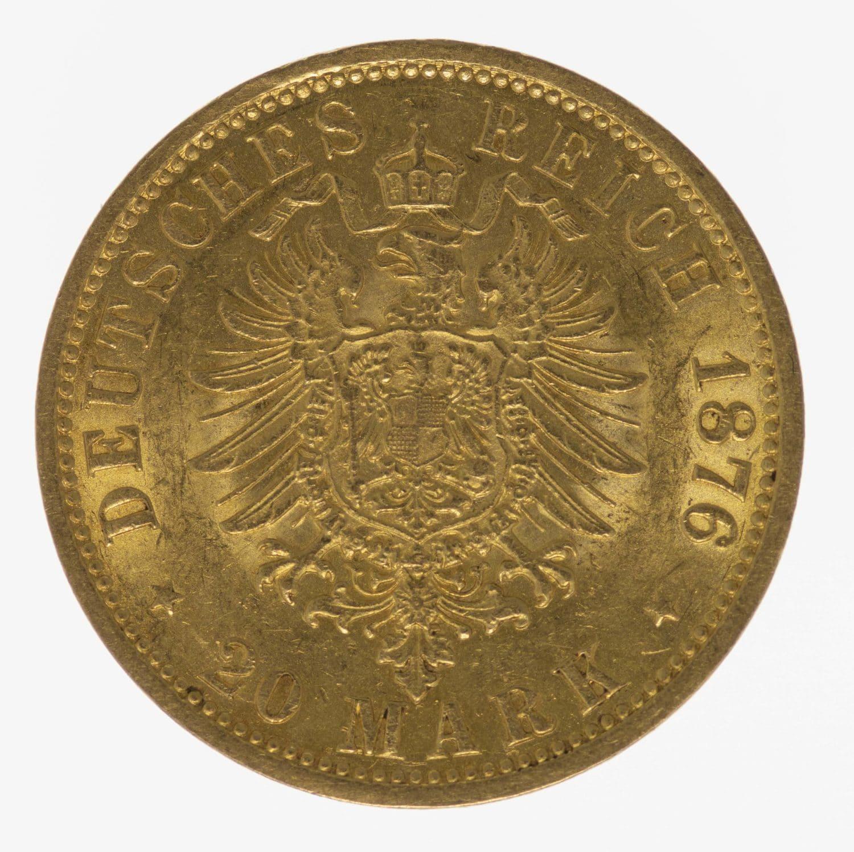 deutsches-kaiserreich-ab-1871 - Hamburg Stadtwappen 20 Mark 1876