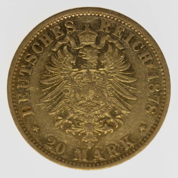 deutsches-kaiserreich-ab-1871 - Hamburg Stadtwappen 20 Mark 1878