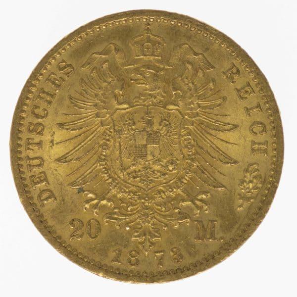 deutsches-kaiserreich-ab-1871 - Preussen Wilhelm I.20 Mark 1873 C