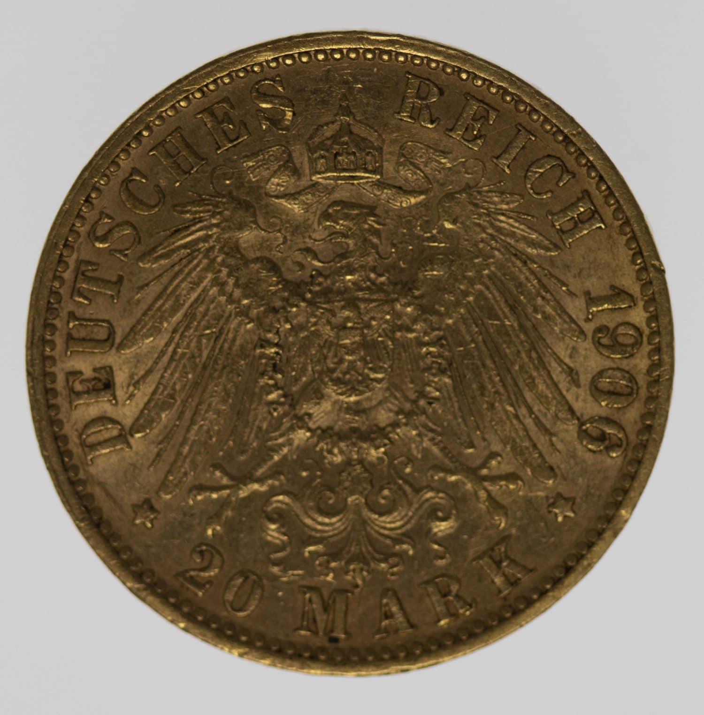 deutsches-kaiserreich-ab-1871 - Preussen Wilhelm II.20 Mark1906 J