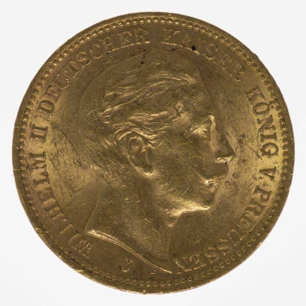 deutsches-kaiserreich-ab-1871 - Preussen Wilhelm II. 20 Mark 1912 A