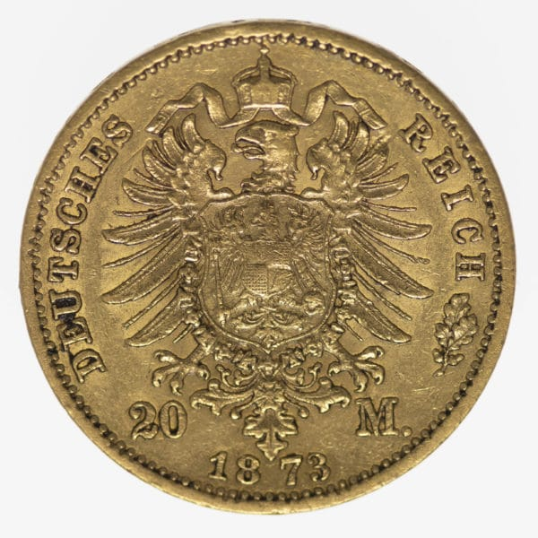deutsches-kaiserreich-ab-1871 - Sachsen Johann 20 Mark 1873