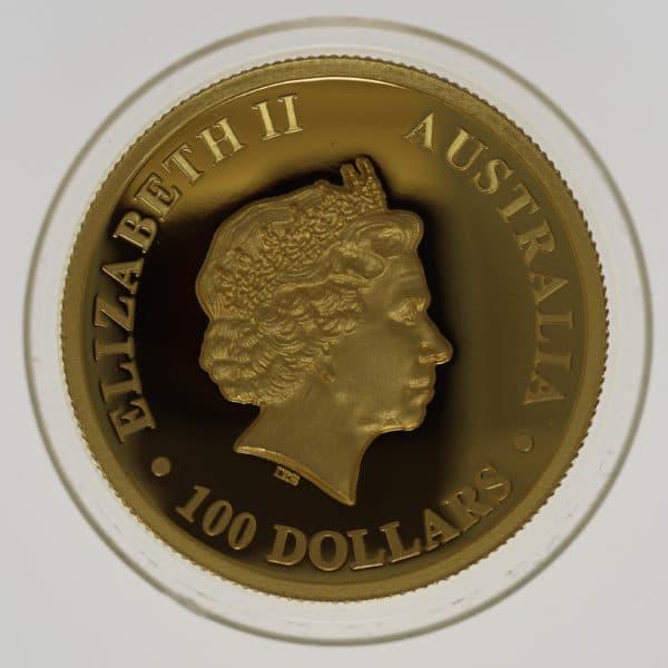 australien - Australien Elisabeth II. 100 Dollars 2014 High Relief Wedge -Tailed Eagle