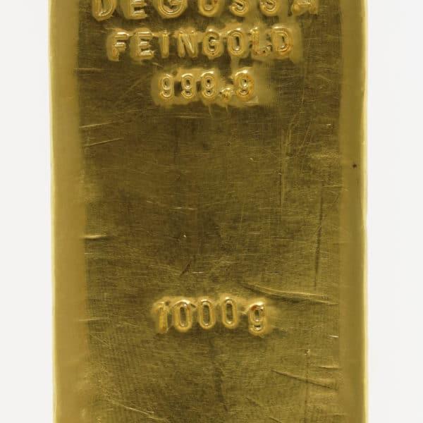 goldbarren - Goldbarren 1000 GrammDegussa