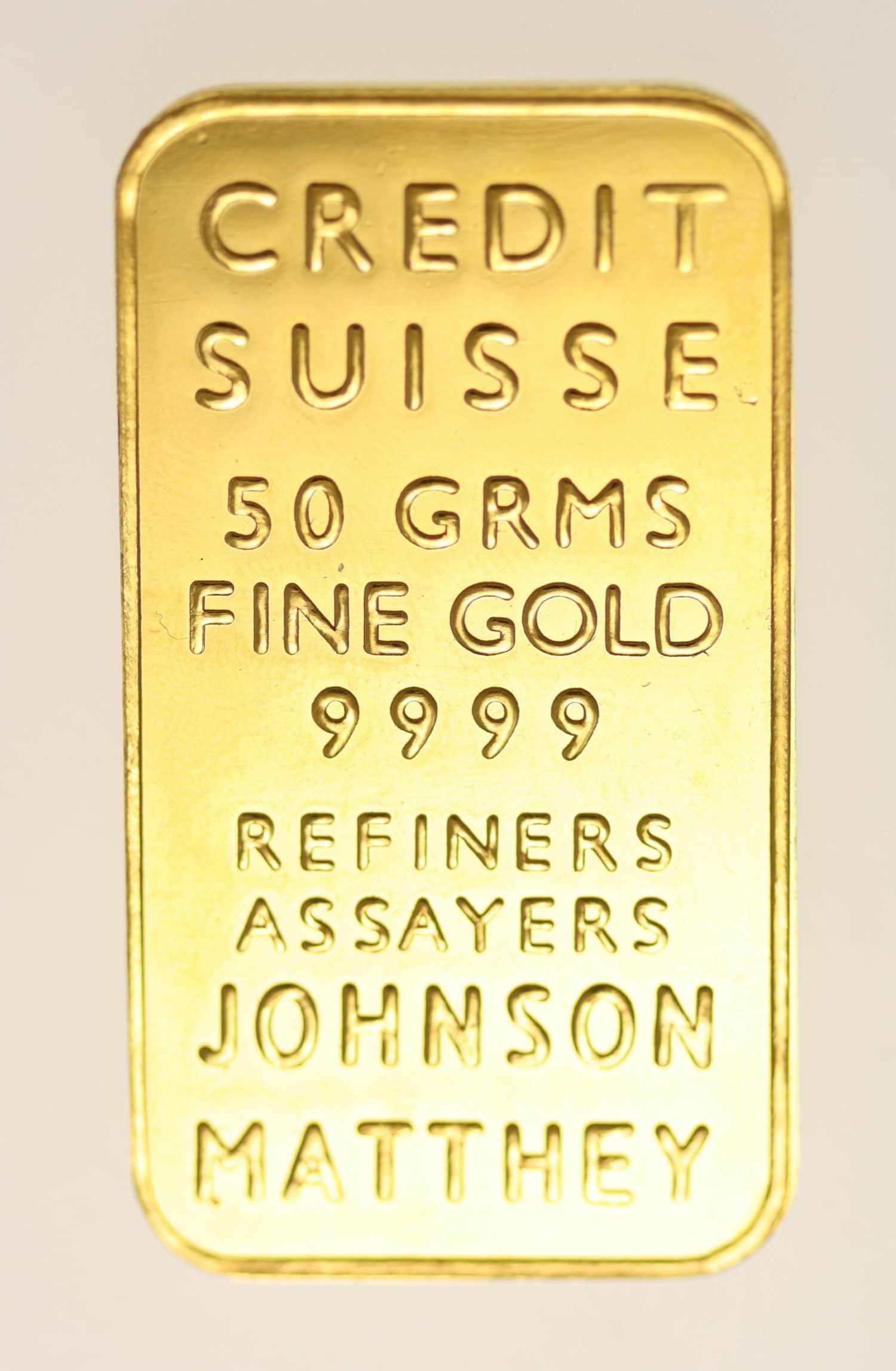 goldbarren - Goldbarren 50 GrammJohnson Matthey