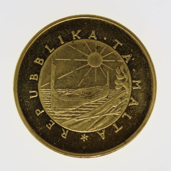 malta-goldmuenzen-uebriges-europa - Malta 20 Pounds 1976