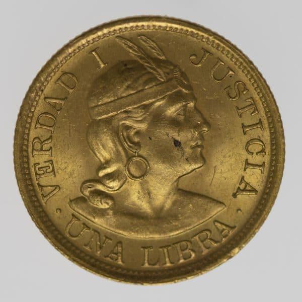 peru - Peru Libra 1917