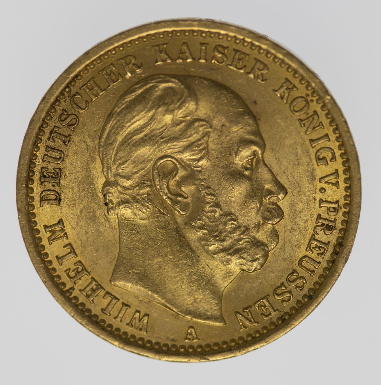 deutsches-kaiserreich-ab-1871 - Preussen Wilhelm I. 20 Mark 1875 A