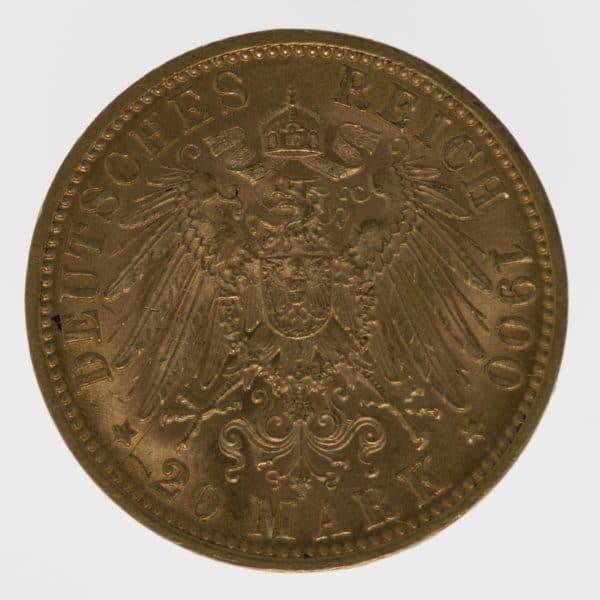 deutsches-kaiserreich-ab-1871 - Württemberg Wilhelm II. 20 Mark 1900