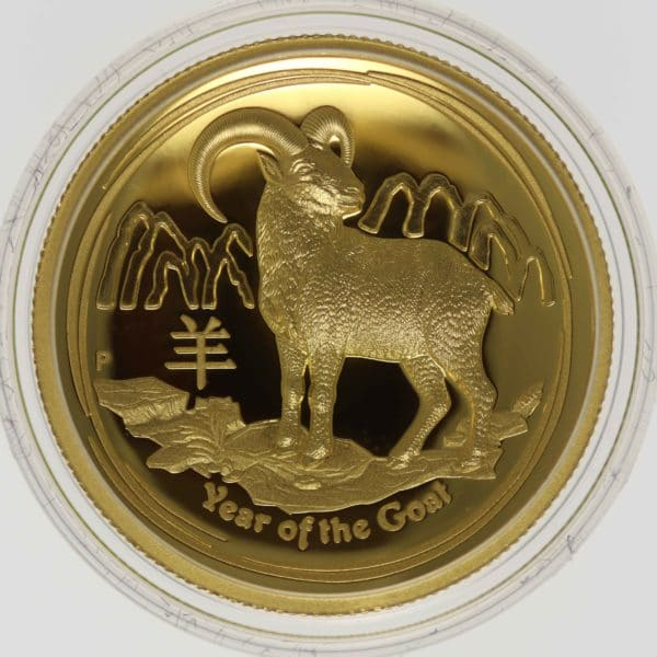 australien - Australien Elisabeth II. 100 Dollars 2015 Lunar II Year of the Goat