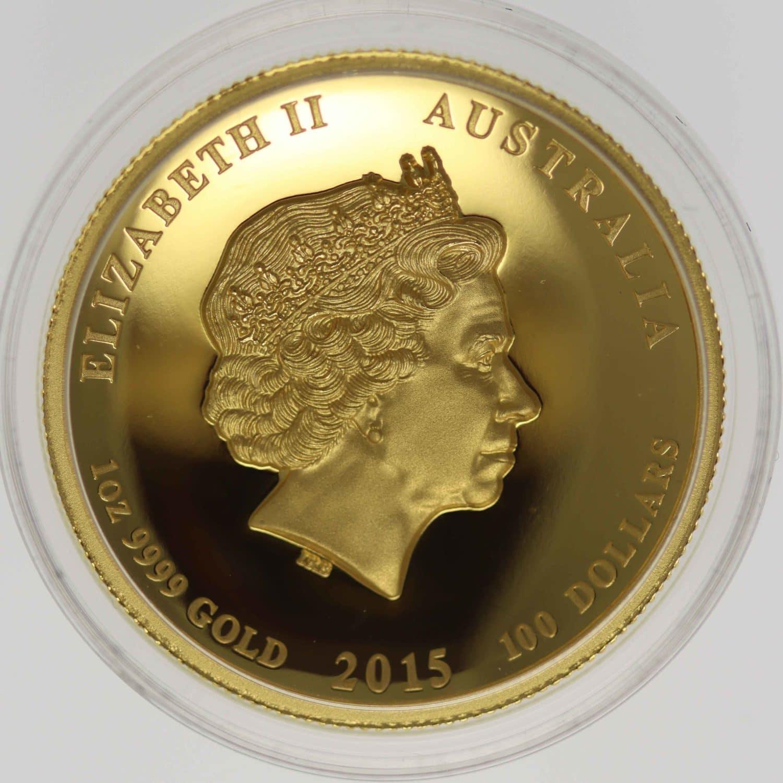 australien - Australien Elisabeth II. 100 Dollars 2015 Lunar II Year of the Goat