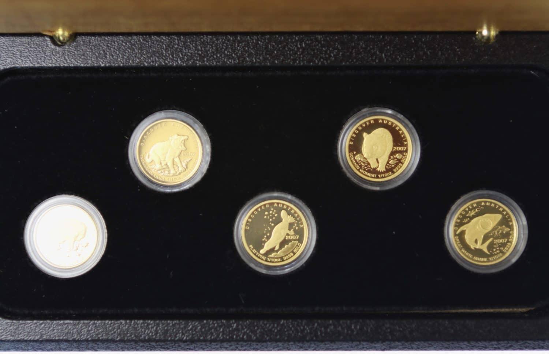 australien - Australien Elisabeth II. 5 Coin Set 2007 Discover 5x 1/10 OZ