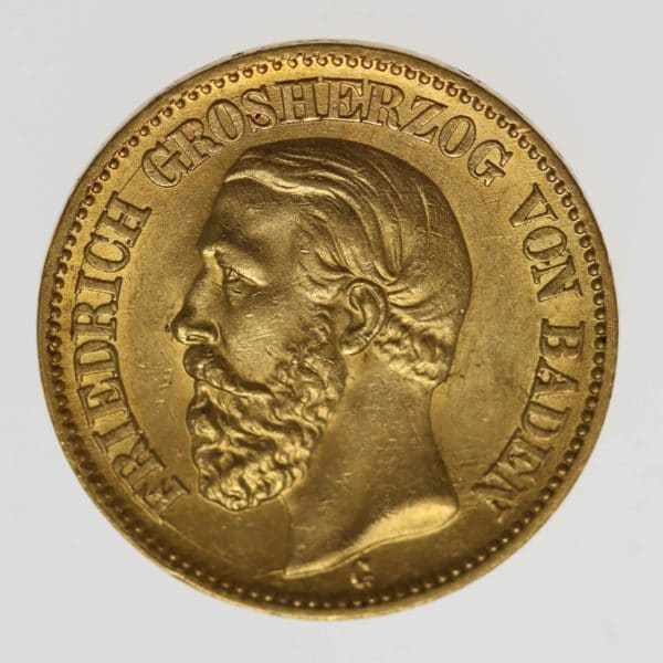 deutsches-kaiserreich-ab-1871 - Baden Friedrich I. 20 Mark 1895