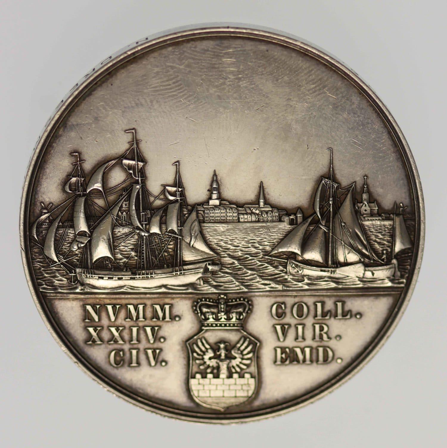 altdeutschland-deutsche-silbermuenzen - Emden Stadt Silbermedaille
