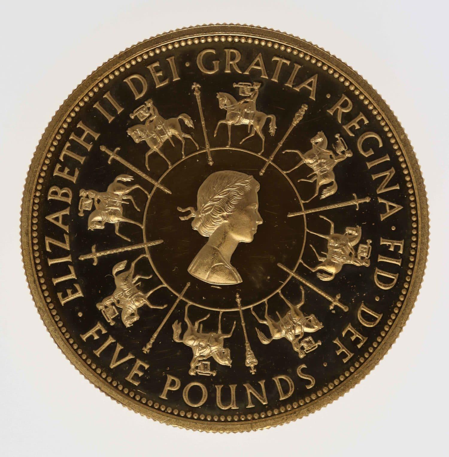 grossbritannien - Großbritannien Elisabeth II. 5 Pounds 1993