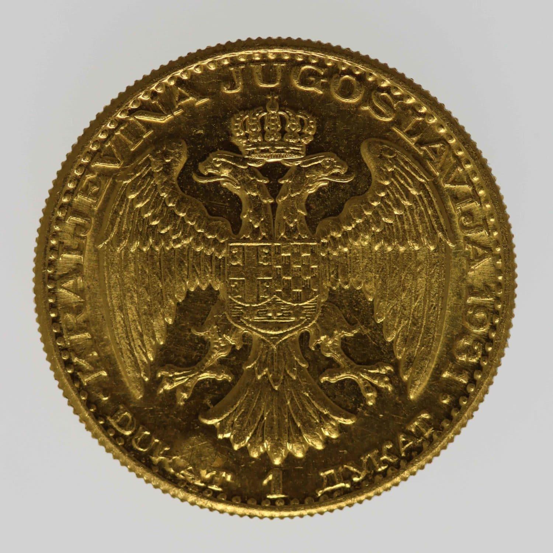 jugoslawien - Jugoslawien Alexander I. Dukat 1931