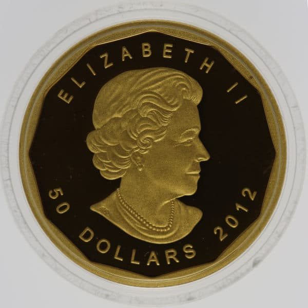 kanada - Kanada Elisabeth II. 5 Coin Set 2012 Maple Leaf