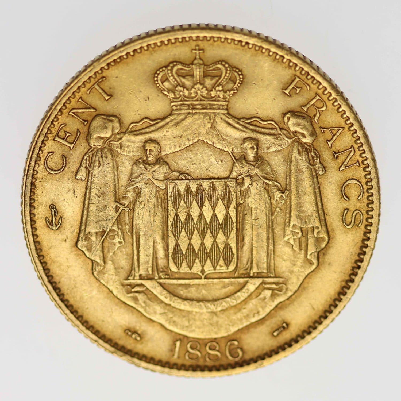 monaco - Monaco Charles III. 100 Francs 1886