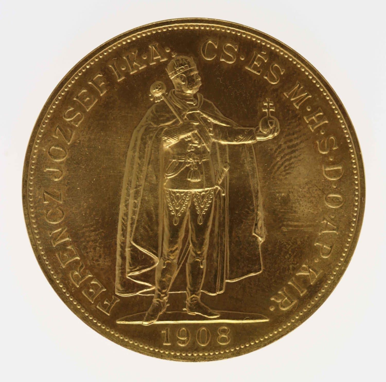 ungarn, oesterreich - Österreich Kaiserreich Franz Joseph I. 100 Kronen 1908 NP