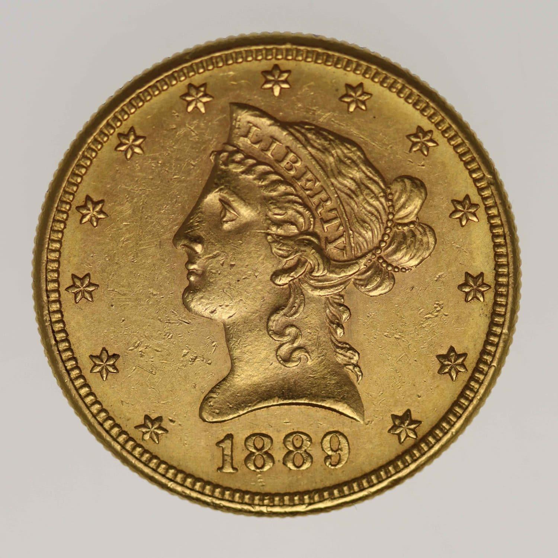 usa - USA 10 Dollars 1889 S Liberty / Kopf