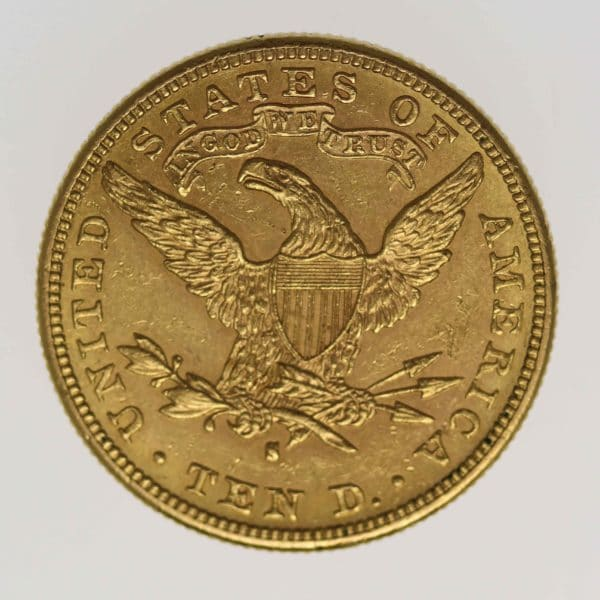 usa - USA 10 Dollars 1889 S Liberty / Kopf