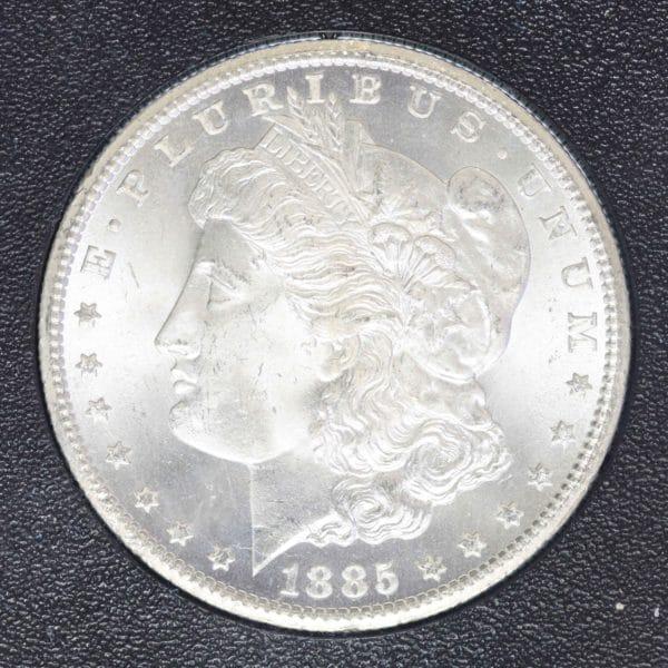 usa-silbermuenzen-uebrige-welt - USA Morgan Dollar 1885 CC