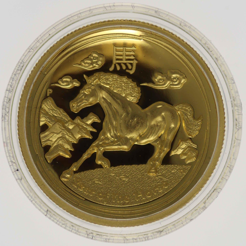 australien - Australien Elisabeth II. 100 Dollars 2015 Lunar II Horse High Relief