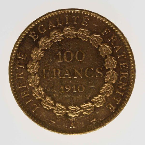 frankreich - Frankreich 100 Francs 1910 A