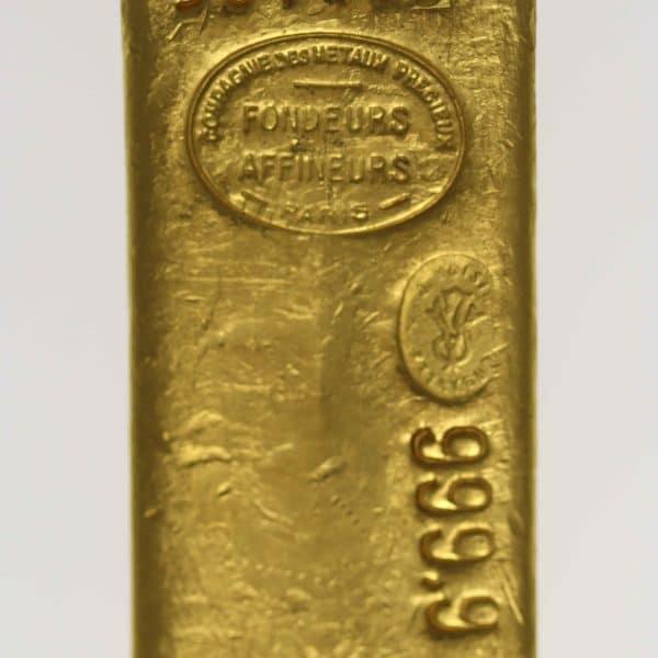goldbarren - Goldbarren 1000 GrammFrankreich Compagnie des Métaux précieux Paris