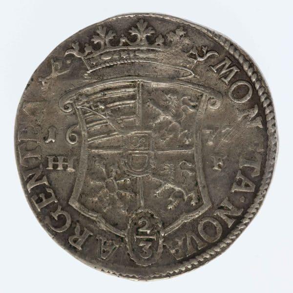 altdeutschland-deutsche-silbermuenzen - Magdeburg August von Sachsen-Weißenfels 2/3 Taler 1672