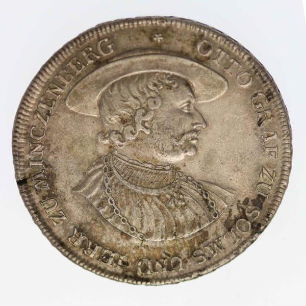altdeutschland-deutsche-silbermuenzen - Solms Laubach Christian August Konventionstaler 1770