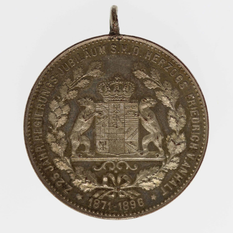 altdeutschland-deutsche-silbermuenzen - Anhalt Dessau Friedrich I. Silbermedaille 1896