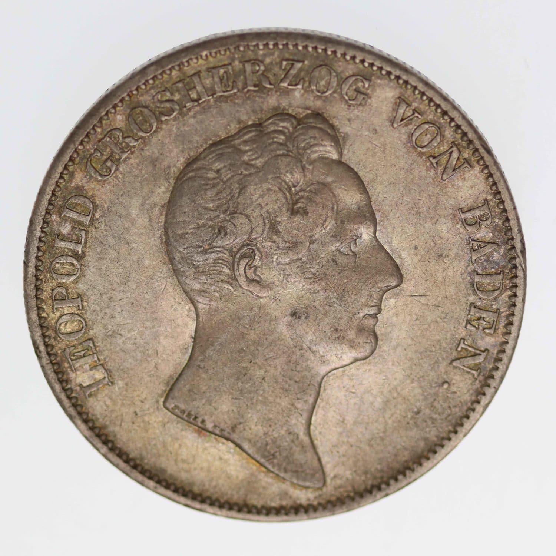 altdeutschland-deutsche-silbermuenzen - Baden Karl Leopold Friedrich Kronentaler 1832