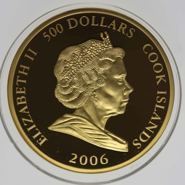 cook-islands - Cook Islands Elisabeth II. 500 Dollars 2006 5 OZ Concorde