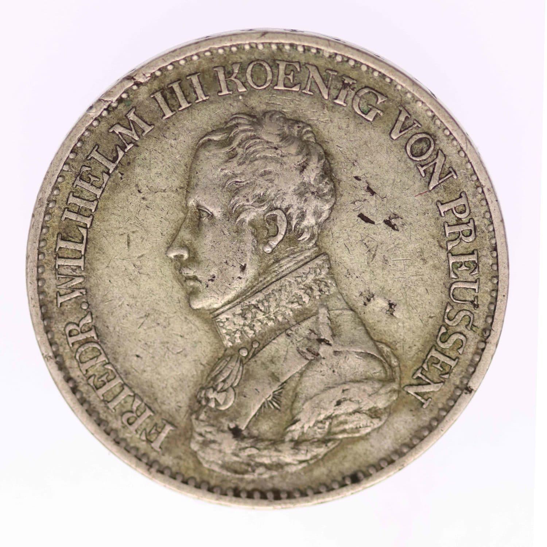 altdeutschland-deutsche-silbermuenzen - Preussen Friedrich Wilhelm III. Taler 1818 A