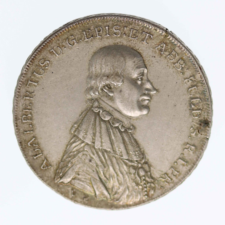 altdeutschland-deutsche-silbermuenzen - Hanau  Adalbert III. Konventionstaler 1795