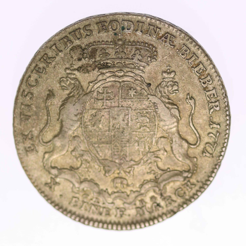 altdeutschland-deutsche-silbermuenzen - Hanau Münzenberg Wilhelm IX. Konventionstaler 1771