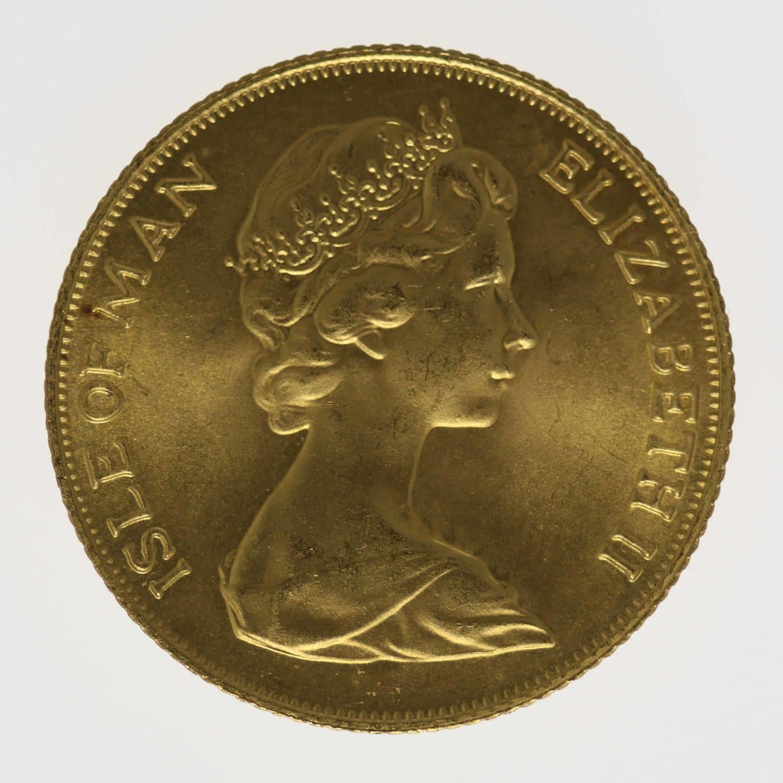 isle-of-man - Isle of Man Elisabeth II. Sovereign 1973